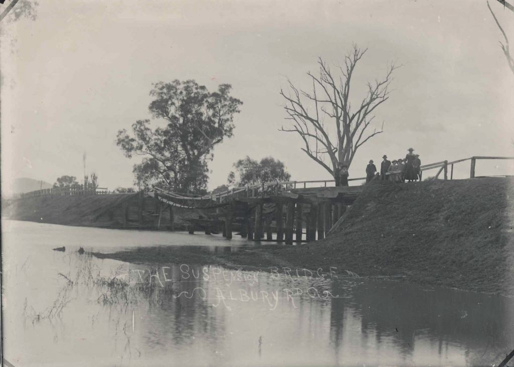 Suspension Bridge 1917 floods 32-A